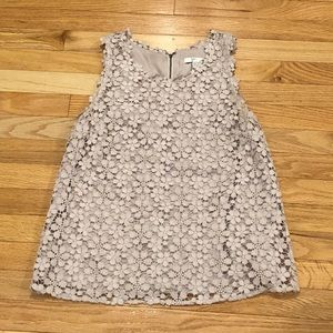 Joie Lace Sleeveless Top sz S